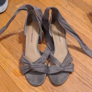 Lucky Brand Chunky Heel Summer shoes